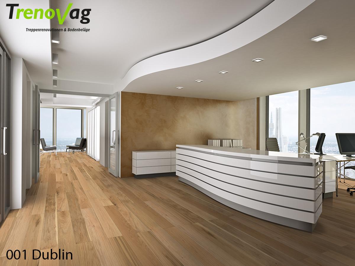 001 Dublin, Trenov-Parkett, Parkettboden, Landhausdielen, Eichenparkett, Parkett verlegen, Bodenreno