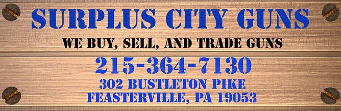 Surplus City Guns Feasterville, PA 19053 215-364-7130