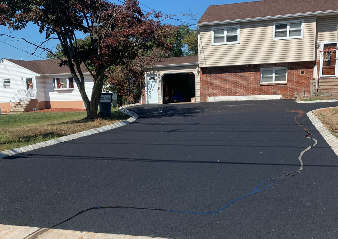 New Asphalt Driveway Belgium Block Middlesex Borough