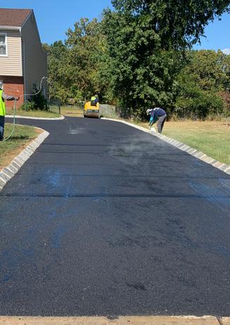 New Asphalt Driveway Belgium Block Middlesex Borough