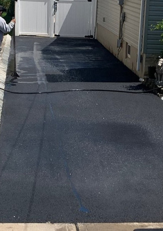 New Asphalt Driveway, Belgium Block Woodbridge