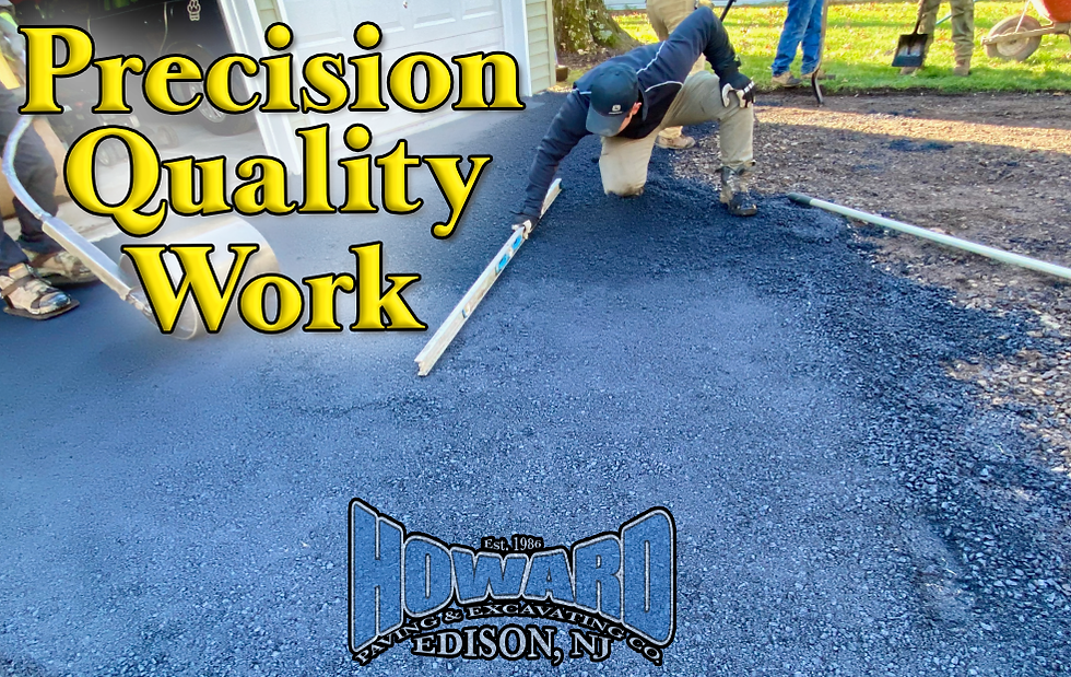 Howard Paving & Excavating New Jersey Precision & Quality Work