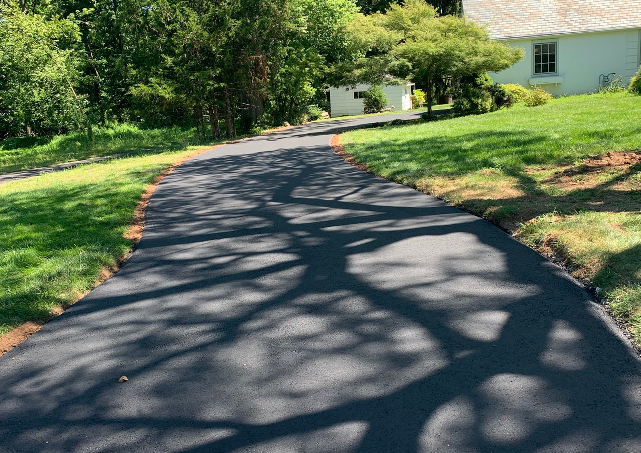 New Asphalt Driveway Concrete City Sidewalk Dunellen Borough