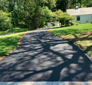 New Asphalt Driveway Concrete City Sidewalk Dunellen Borough