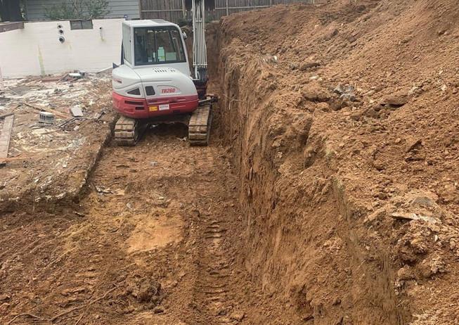 Excavate for Foundation  Woodbridge