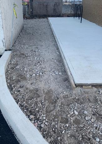 Drainage New Parking lot  Concrete Curbs South River