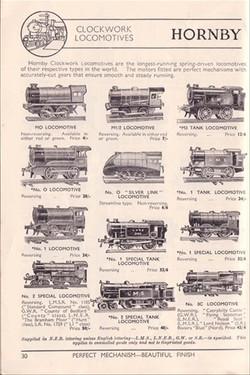 Hornby Clockwork Locomotive 1937
