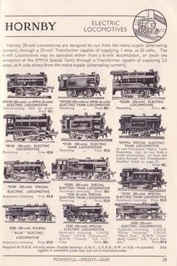 Hornby Electric Locomotives 1937