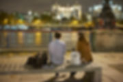 London Southbank evening talking date breakup