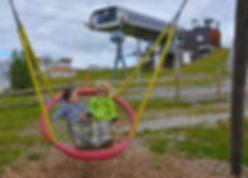 Dovolená v Rakousku s dětmi - hřiště u lanovky