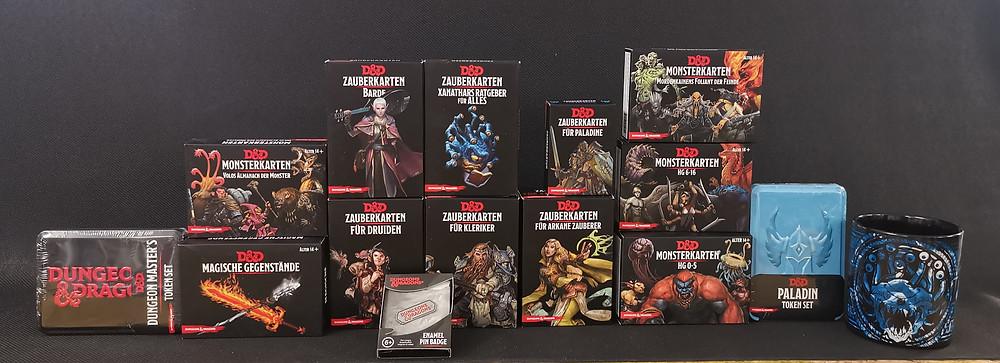 D&D, Zauberkarten, Magische Gegenstände, Monsterkarten, Dungeon and Dragons
