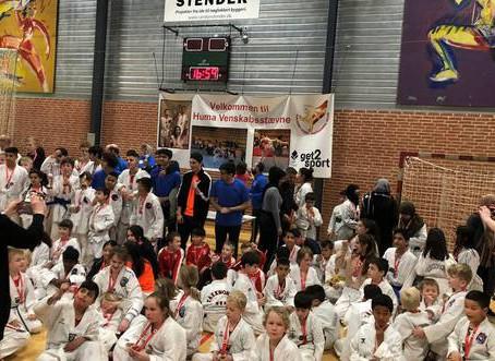 Ung taekwondoklub fik succes med begynderstævne
