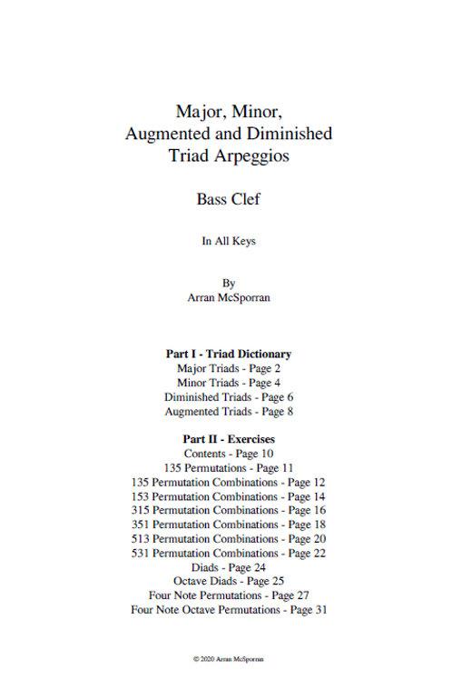 The Triad Compendium - Bass Clef
