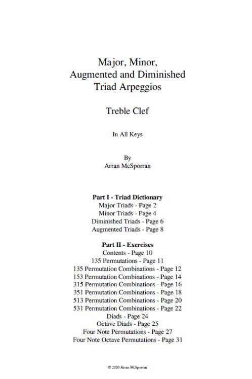 The Triad Compendium - Treble Clef