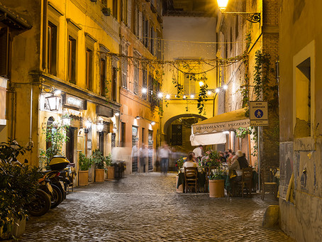 Europe at night: a week in Rome