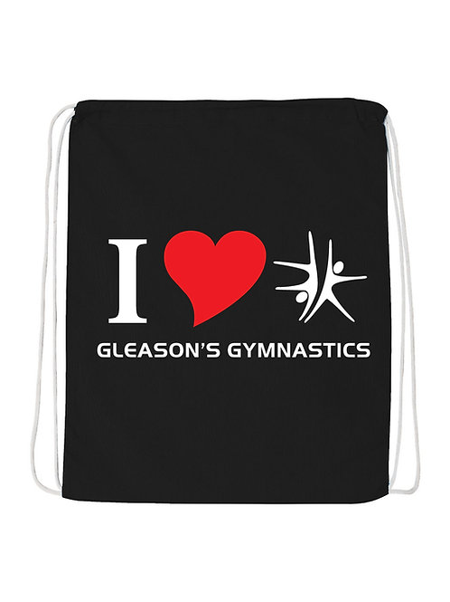"I LOVE GGS 14x18"" Cinch Sack"