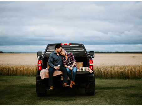 Courtney + Sean | Couple's Session | Westlock, AB