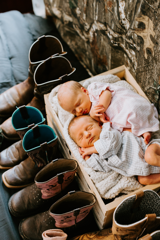 Baby Esmay + Maddox | Twins Newborn