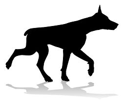 730Z_dog doberman pet silhouettes 2018 r