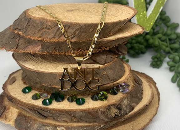 STACKED NAME PLATE PENDANT