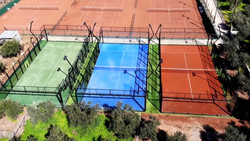 3 courts aerial