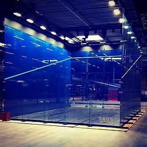 DPD Open 2019 squash courts
