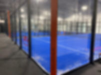 Customised padel court glass