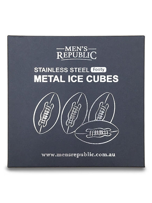 Men's Republic Footy Ball Ice Cubes - 4 Pieces Stainless Steel