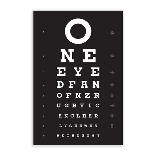 A5Wooden Sign : Perfect Vision – Designed by NZ Artist Glenn Jones
