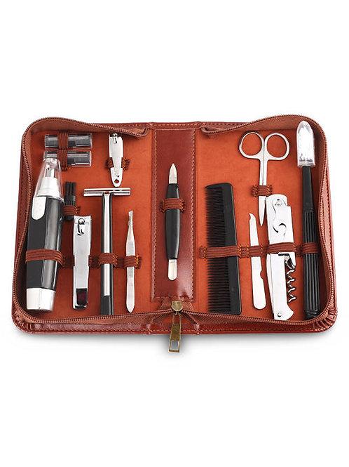 Men's Republic - Men's Grooming Kit - 12 Pieces in Zipper Bag