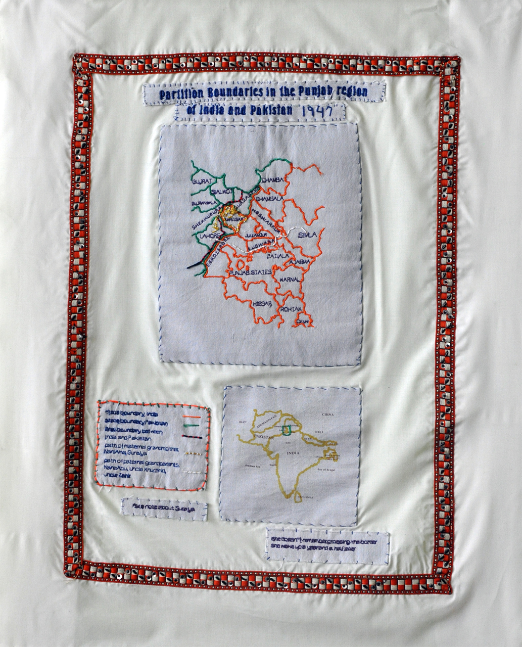 banners of partition, mapping punjab