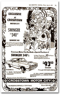 1971 Swinger 340 Special print ads