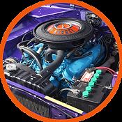 1971 340 engine stock corporate blue