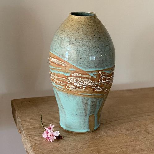 Seascape vessel/vase
