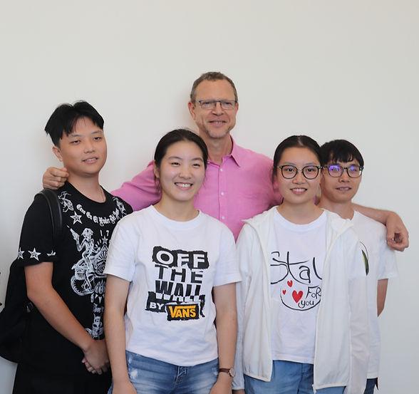 Neoscholar professor and students
