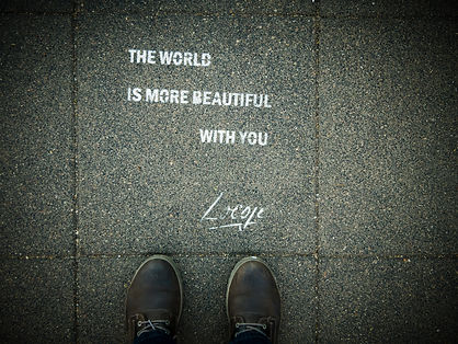 The world is more beautiful with you