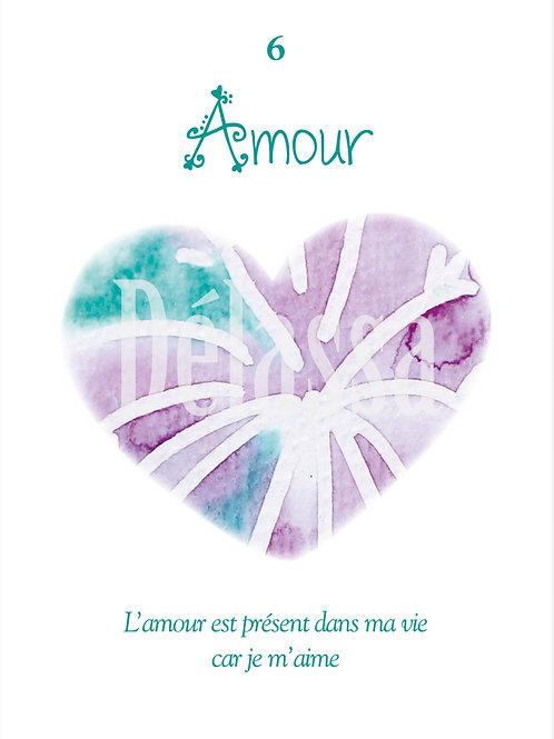 Tableau aquarelle 6 Amour