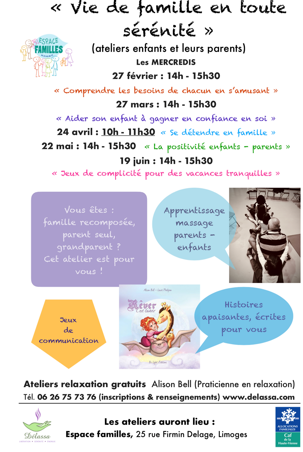 Ateliers relaxation enfants CAF