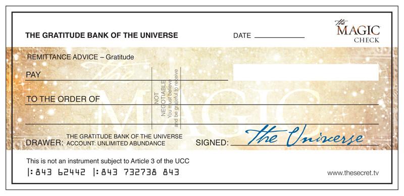 Chèque de l'abondance