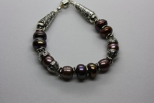 Big Brown Freshwater Pearl Bracelet II