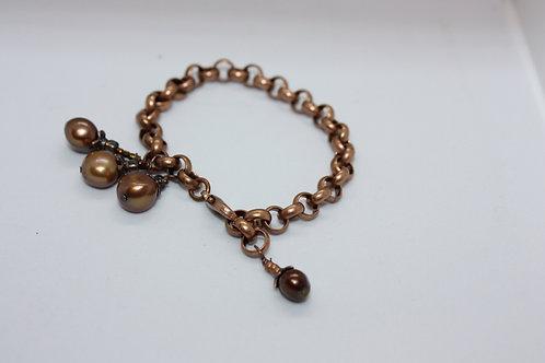 Copper 'Kettle' Weight Bracelet