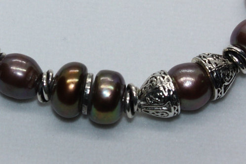 Big Brown Freshwater Pearl Bracelet