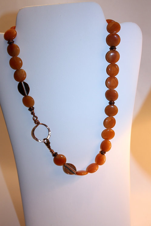 Carnelian and Copper KBK NeckGlass