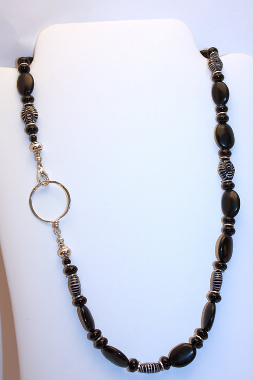 Black Onyx & Glass KBK NeckGlass