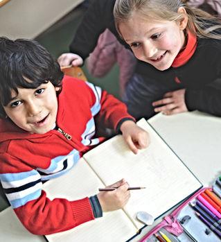Niños de escuela