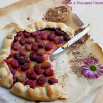 Rustic Grape & Marmalade Crostata from Sicily