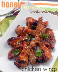 Oven Roasted Honey, Lemon & Sesame Chicken Wings