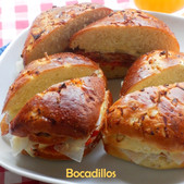 Bocadillos | Little Crusty Sandwiches with Manchego, Proscuitto, Aioli & Peppers