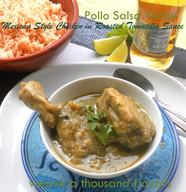 Pollo Salsa Verde | Chicken in Roasted Tomatillo Sauce