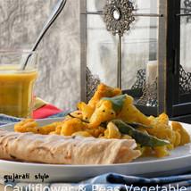 Kobi Nu Shakh : Cauliflower and Peas Vegetable from Gujarat, India